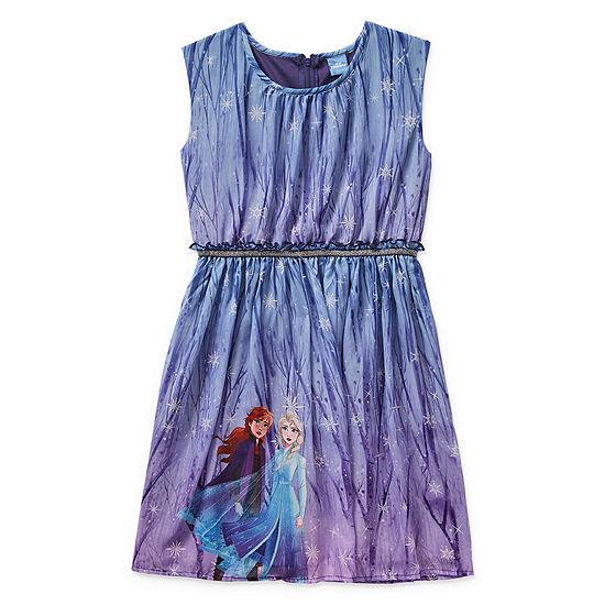 Disney 2 Girls Sleeveless Frozen Skater Dress - Big Kid