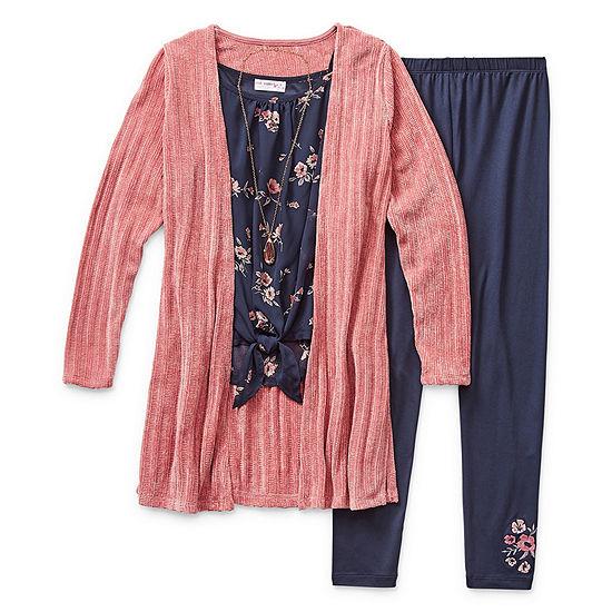 Knit Works Legging Sets 3-pc. Big Kid Girls
