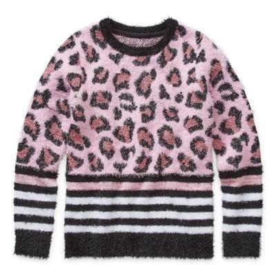 Arizona Girls Crew Neck Long Sleeve Pullover Sweater Preschool / Big Kid