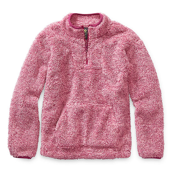 Xersion Minky Fleece Girls Long Sleeve Quarter-Zip Pullover Preschool / Big Kid