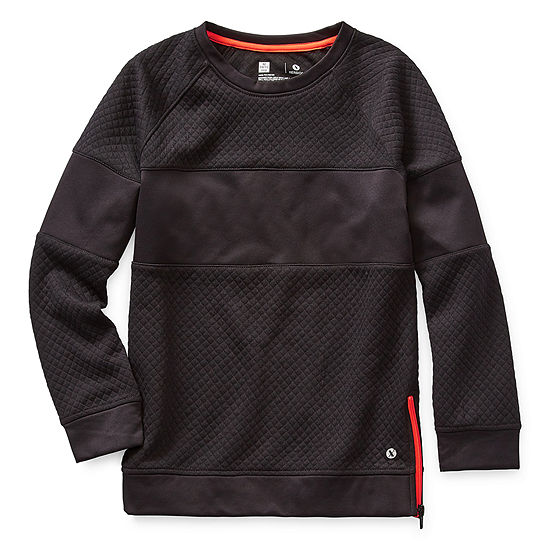 Xersion Boys Crew Neck Long Sleeve T-Shirt Preschool / Big Kid