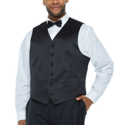Stafford Travel Mens Classic Fit Tuxedo Vest - Big and Tall