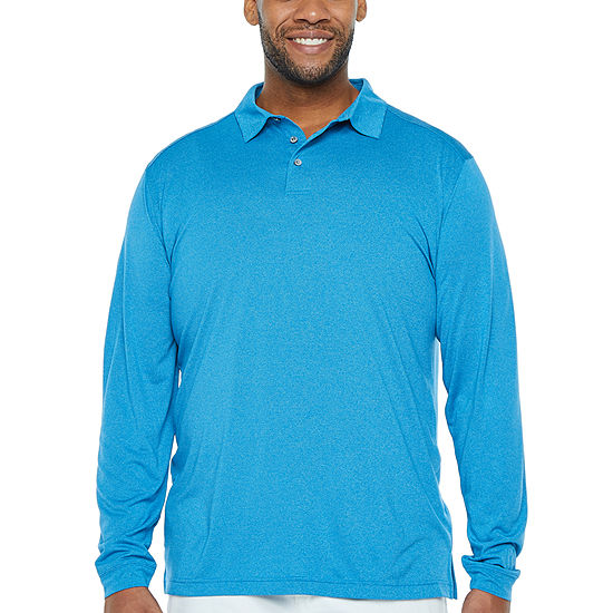 PGA TOUR Mens Long Sleeve Polo Shirt Big and Tall