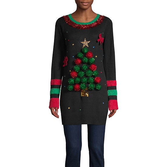 Womens Holiday Tunic Sweater