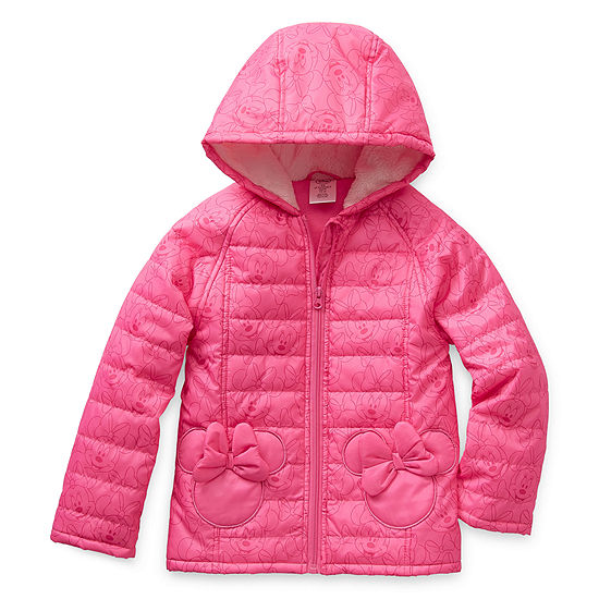 Disney Minnie Mouse Hooded Winter Jacket - Girls