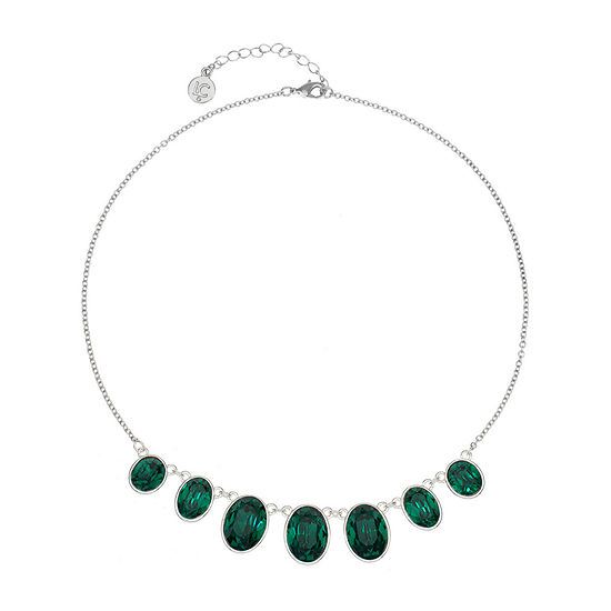 Liz Claiborne Green 17 Inch Cable Collar Necklace