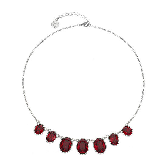 Liz Claiborne Red 17 Inch Cable Collar Necklace