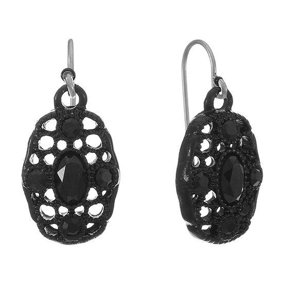 Liz Claiborne 1 Pair Black Drop Earrings