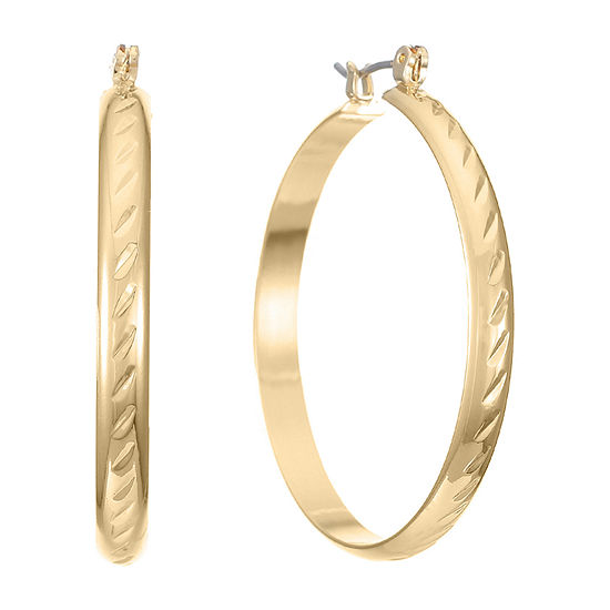 Monet Jewelry 1 Pair Hoop Earrings