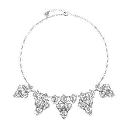 Monet Jewelry Bridal 18 Inch Cable Collar Necklace, One Size , White