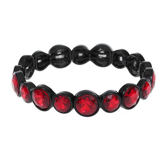 Liz Claiborne Red Round Stretch Bracelet