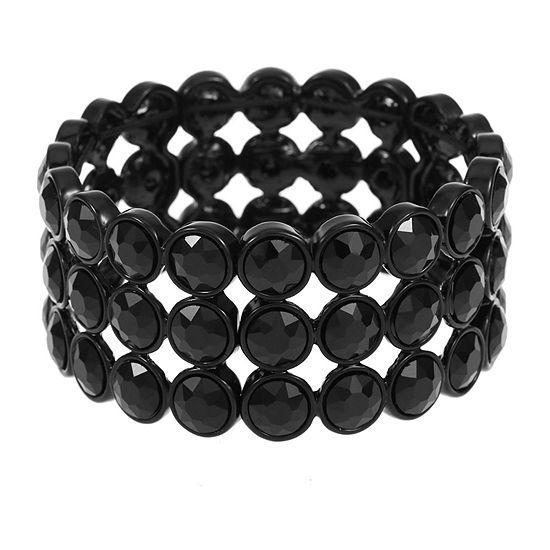 Liz Claiborne Black Round Stretch Bracelet