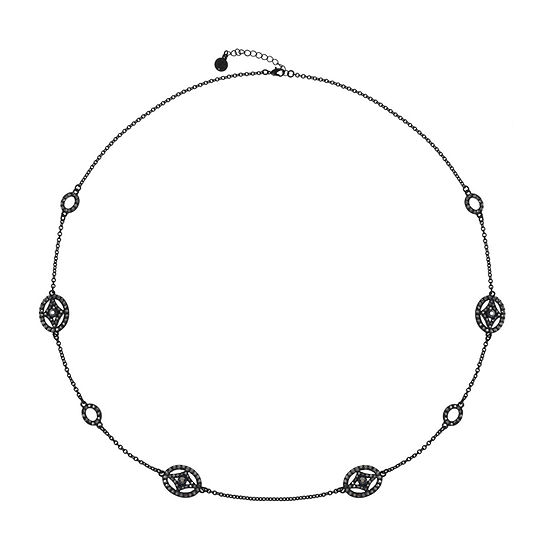 Liz Claiborne Gray 34 Inch Cable Oval Strand Necklace