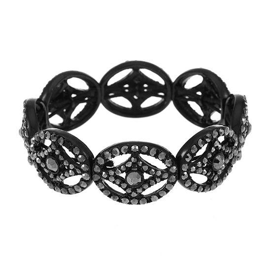 Liz Claiborne Gray Oval Stretch Bracelet