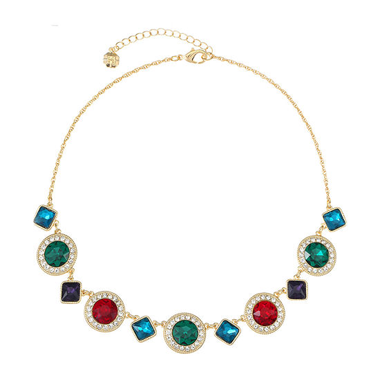 Monet Jewelry Multi Color 17 Inch Cable Collar Necklace