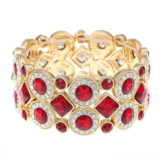 Monet Jewelry Red Stretch Bracelet