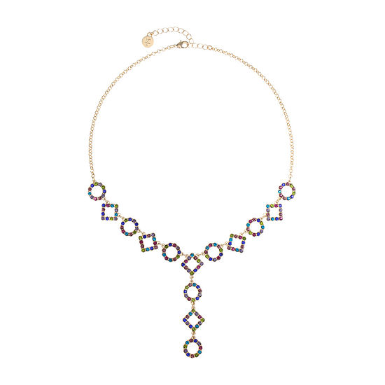 Liz Claiborne Multi Color 18 Inch Cable Round Y Necklace