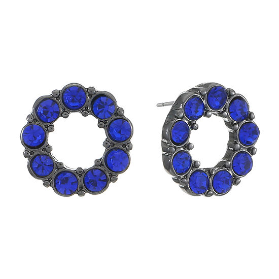 Liz Claiborne Blue 12mm Round Stud Earrings