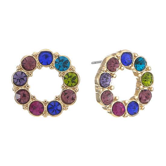 Liz Claiborne Multi Color 12mm Round Stud Earrings