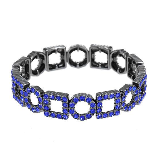 Liz Claiborne Blue Round Stretch Bracelet