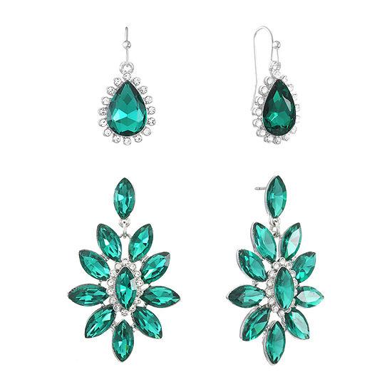 Monet Jewelry 2 Pair Green Jewelry Set