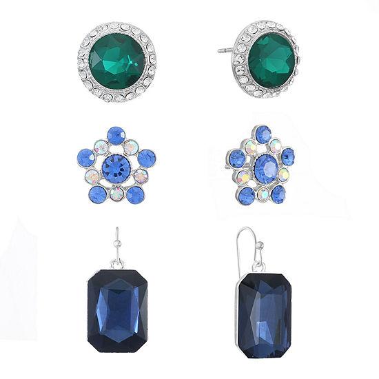 Monet Jewelry 3 Pair Blue Jewelry Set