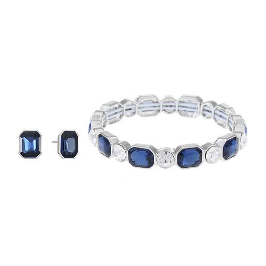Monet Jewelry 2 Pair Blue Jewelry Set