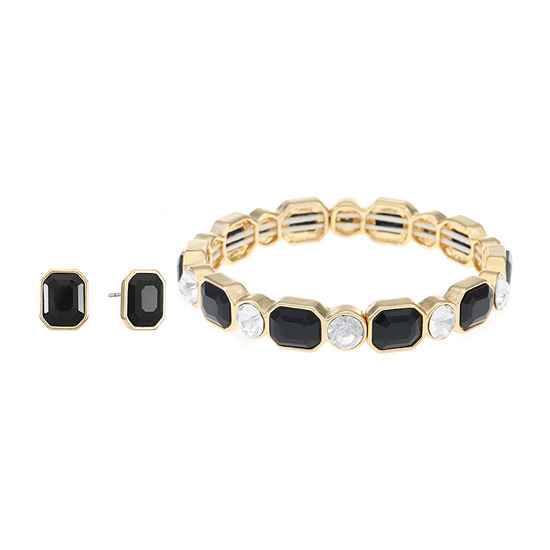 Monet Jewelry 3 Pair Black Jewelry Set