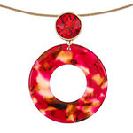 Liz Claiborne Resin Red 32 Inch Snake Pendant Necklace