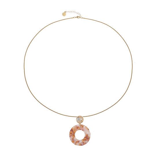 Liz Claiborne Resin Brown 32 Inch Snake Pendant Necklace