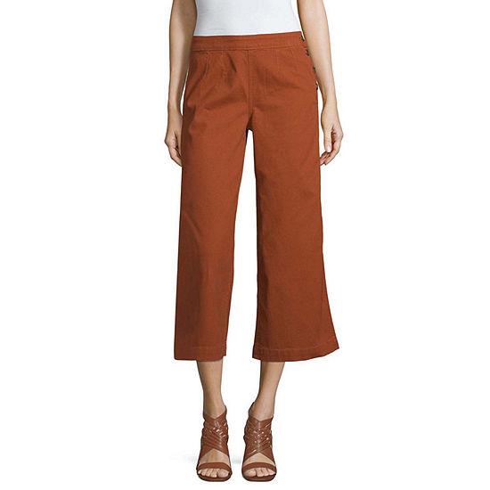 a.n.a Hi Rise Side Button Wide Leg Crop - Tall