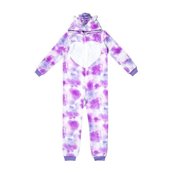 Okie Dokie Girls Microfleece One Piece Pajama Long Sleeve