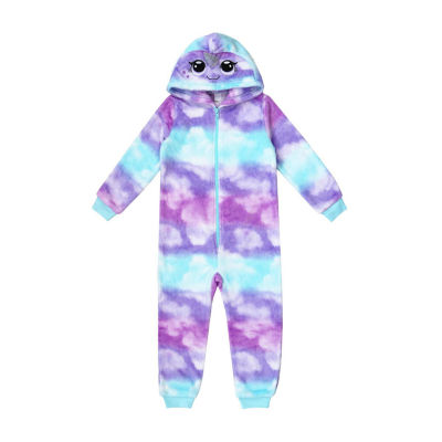 Mommy and Me Narwhal One Piece Pajama- Toddler Girls