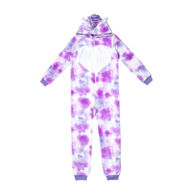 Mommy and Me Tie Dye Unicorn One Piece Pajama -Girls