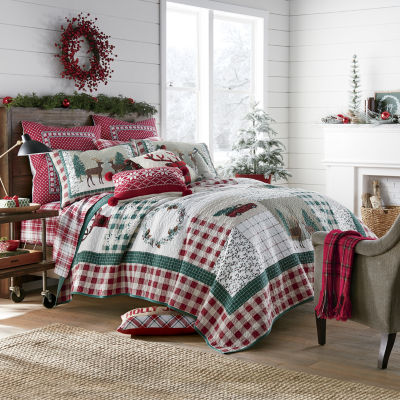 North Pole Trading Co. Winter Patchwork Quilt Set