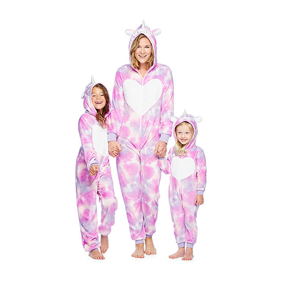 Mommy & Me Unicorn Tie Dye One Piece Pajama