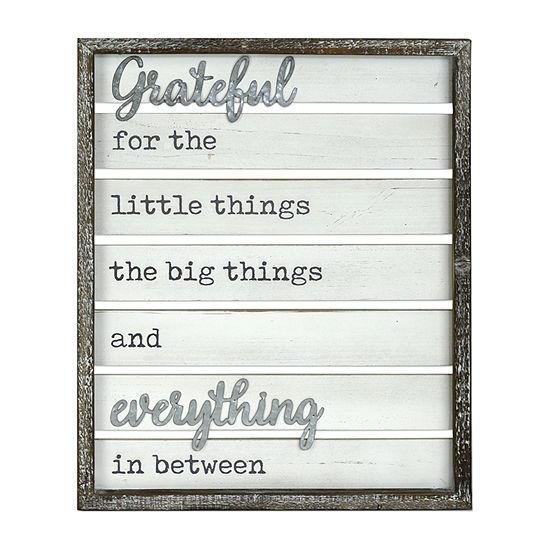 Gratefull Wall Sign