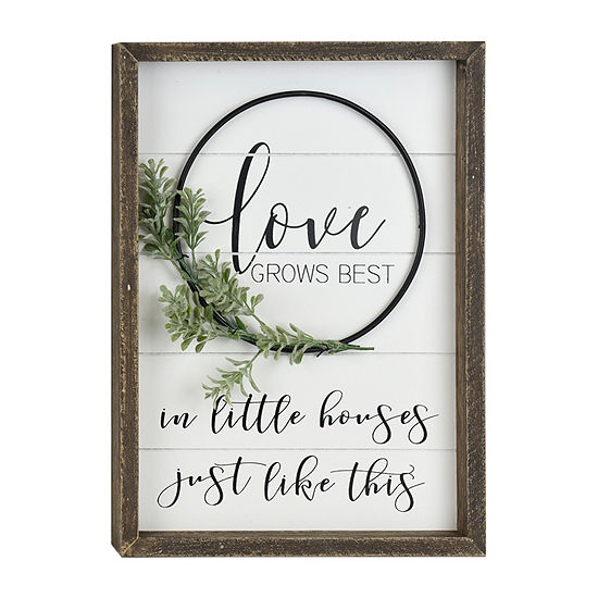 Love Grows Best Letter Blocks
