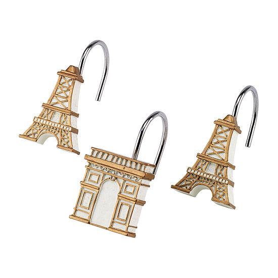 Avanti Paris Botanique Shower Curtain Hooks
