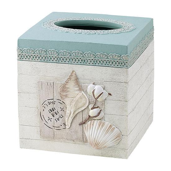 Avanti Farmhouse Shell Tissue Box Cover