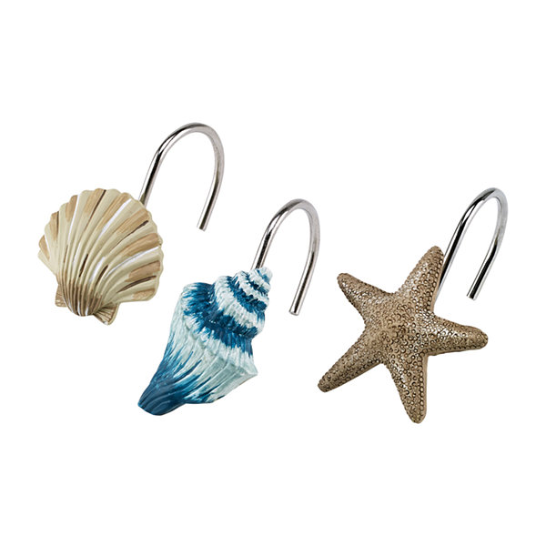 Avanti Blue Lagoon Shower Curtain Hooks