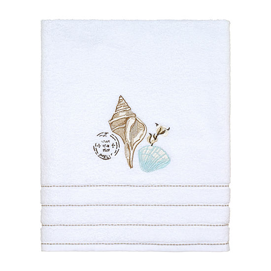Avanti Farmhouse Shell Embellished Bath Towel