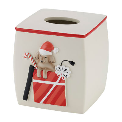 Avanti Holiday Dogs Tissue Box Cover