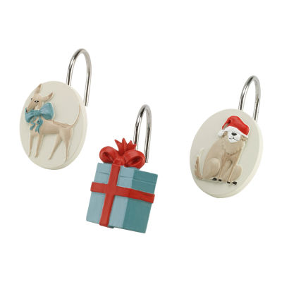 Avanti Holiday Dogs Shower Curtain Hooks
