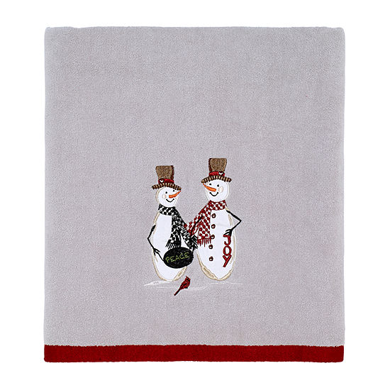 Avanti Country Friends Embellished Holiday Bath Towel