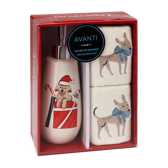 Avanti Holiday Dogs 3-pc. Fingertip Towel