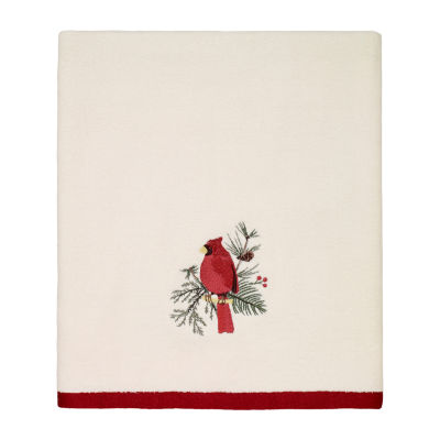 Avanti Cardinal Embellished Holiday Bath Towel