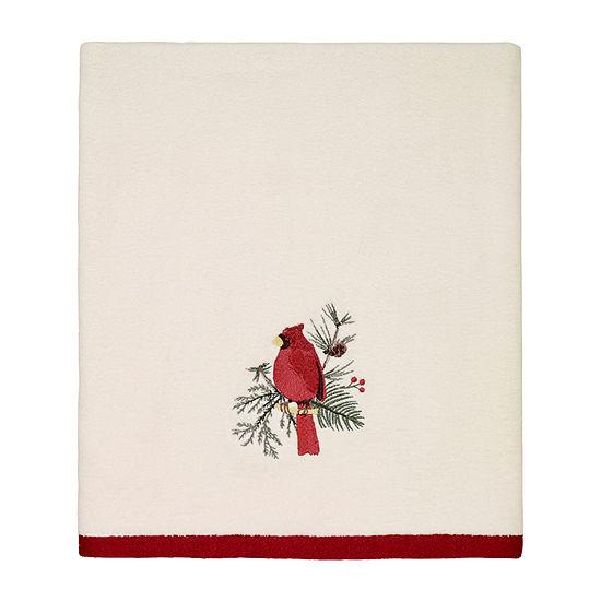 Avanti Cardinal Embellished Holiday Bath Towel
