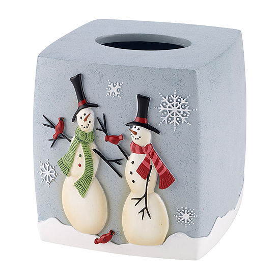 Avanti Tall Snowman Tissue Box Cover