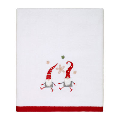 Avanti Gnome Walk Embellished Holiday Bath Towel